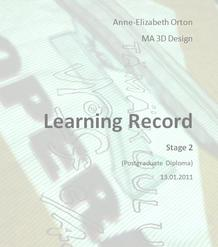 Stage 2 Learning Record